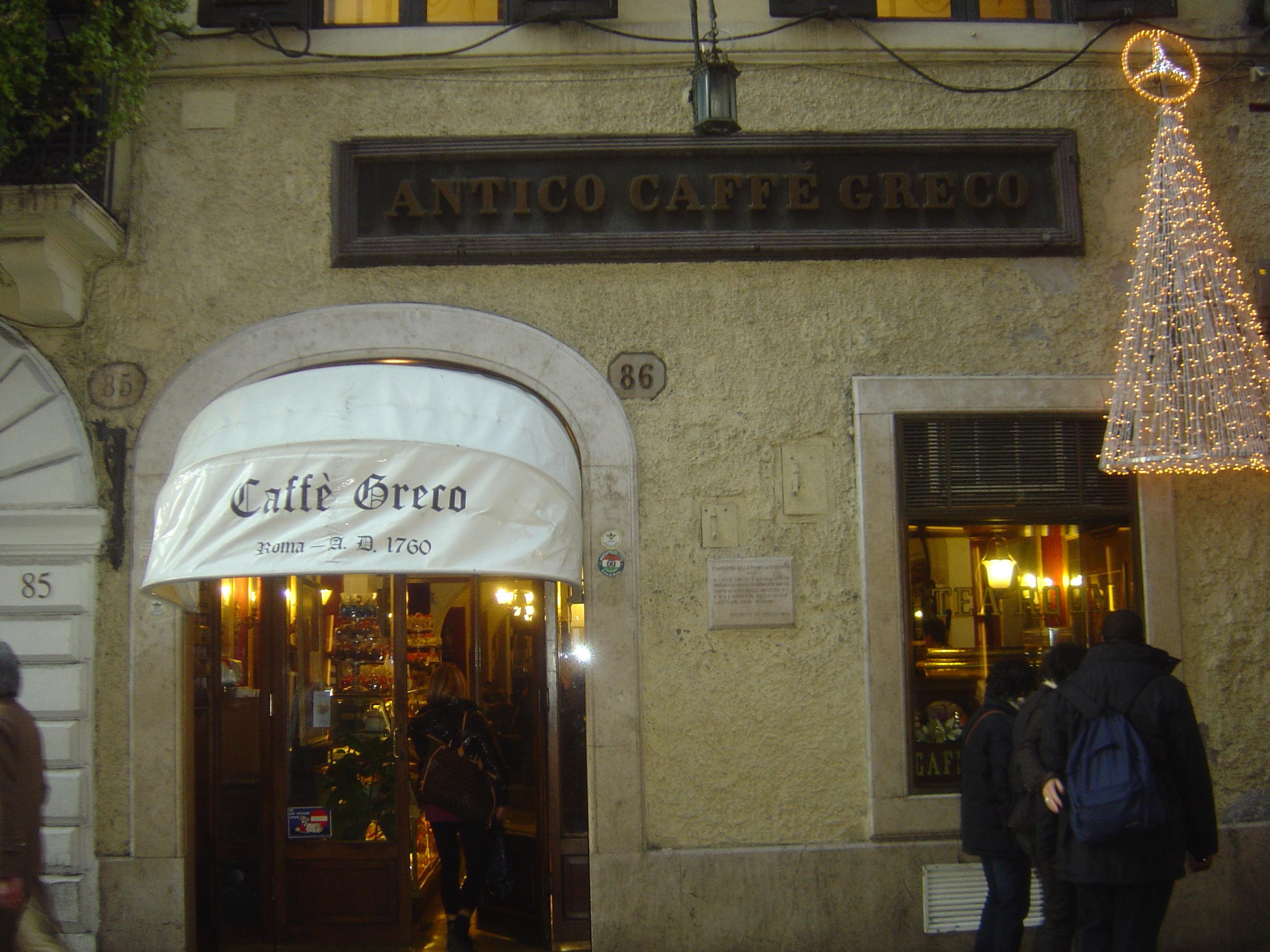 Αποτέλεσμα εικόνας για cafe greco rome