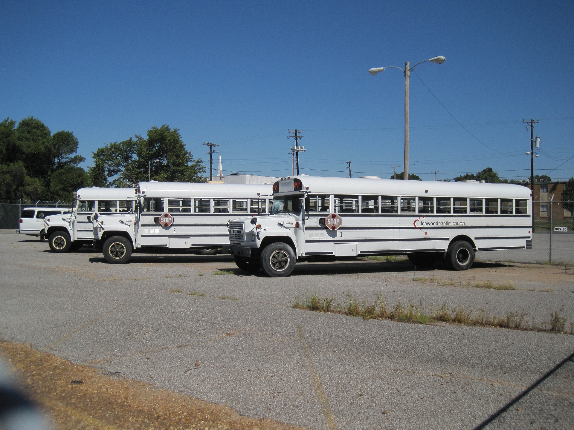 Church buses in Memphis, Tennessee