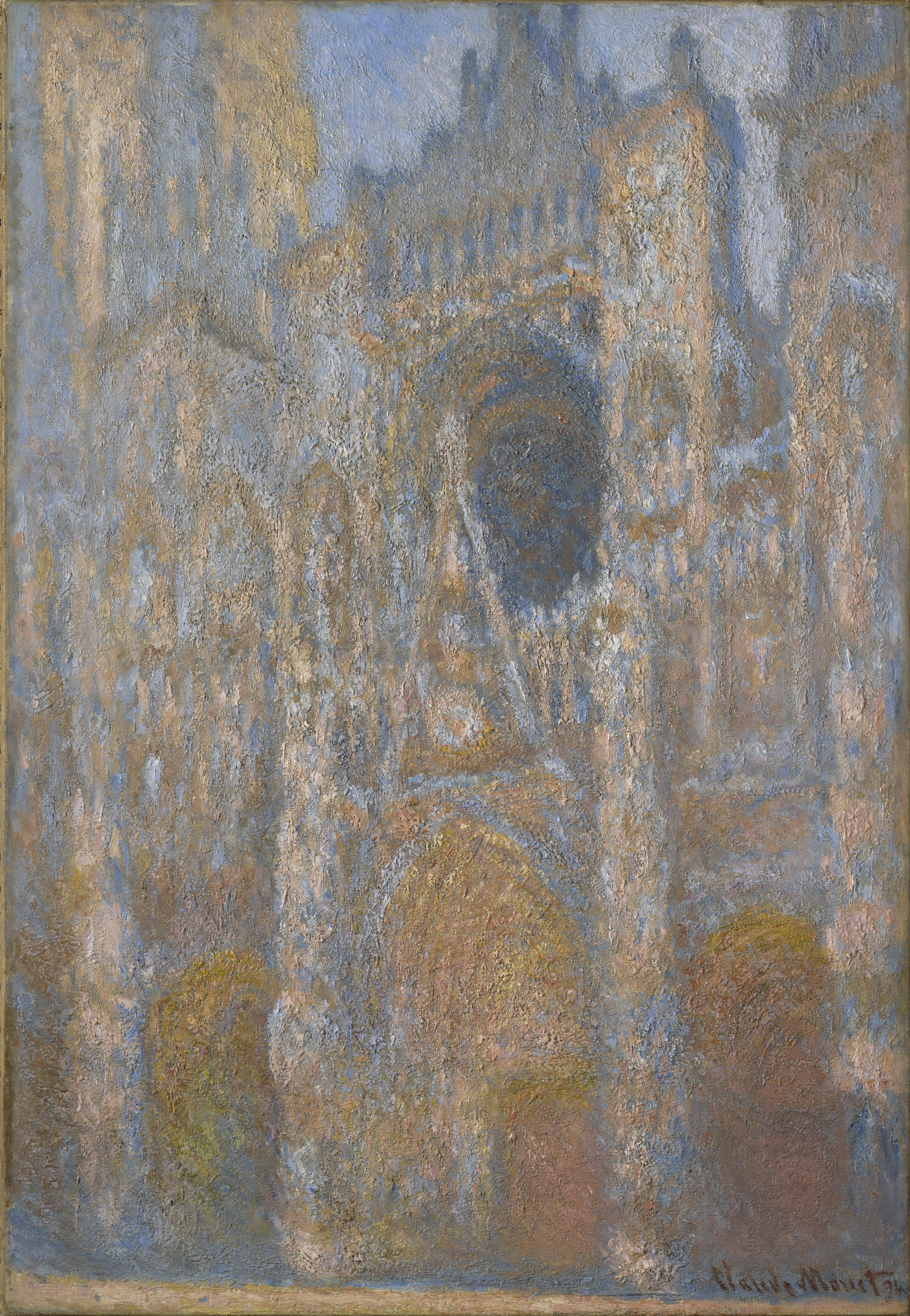 file claude monet la cath drale de rouen le wikimedia commons. Black Bedroom Furniture Sets. Home Design Ideas
