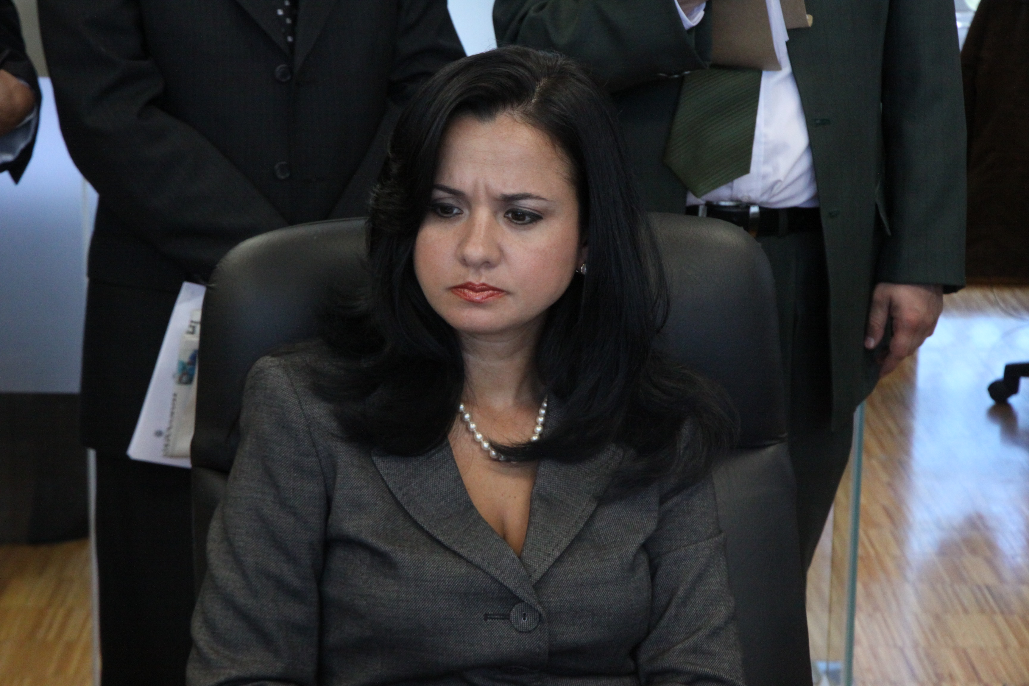 Marcela Aguiñaga de Ambiente, Wilson Pástor de Recursos Naturales No Renovables y al Viceministro de Minas (6962120303).jpg Español: Foto: Hugo Ortiz