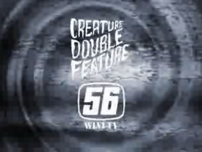 "Creature Double Feature logo 1.25"" Button Sat Horror Movie TV Program Boston 80s"