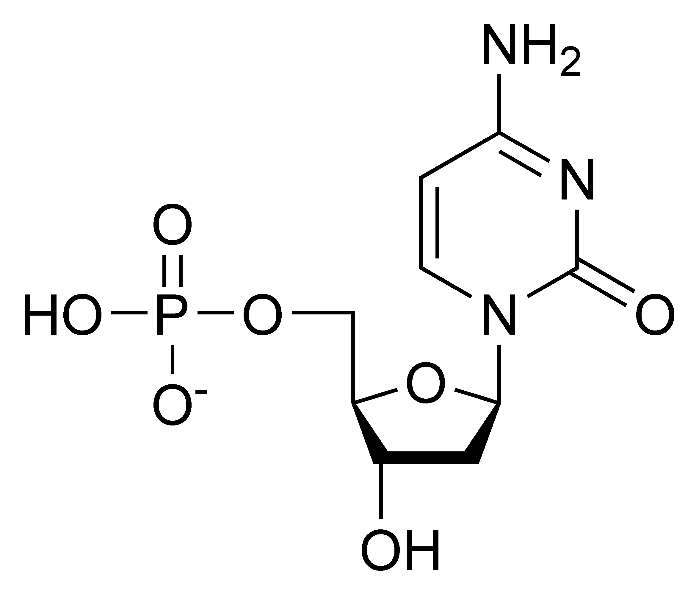 Chemical structure of deoxycytidine monophosphate