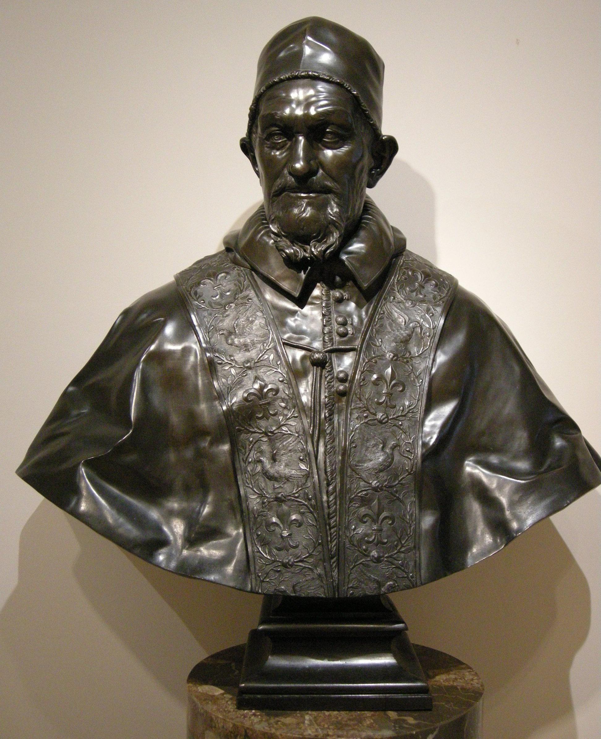:da alessandro algardi, papa innocenzo x, metà del 17mo secolo