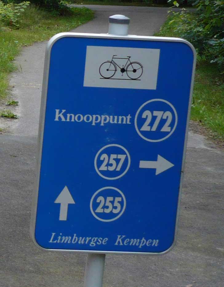 van knooppunt naar knooppunt fietsen