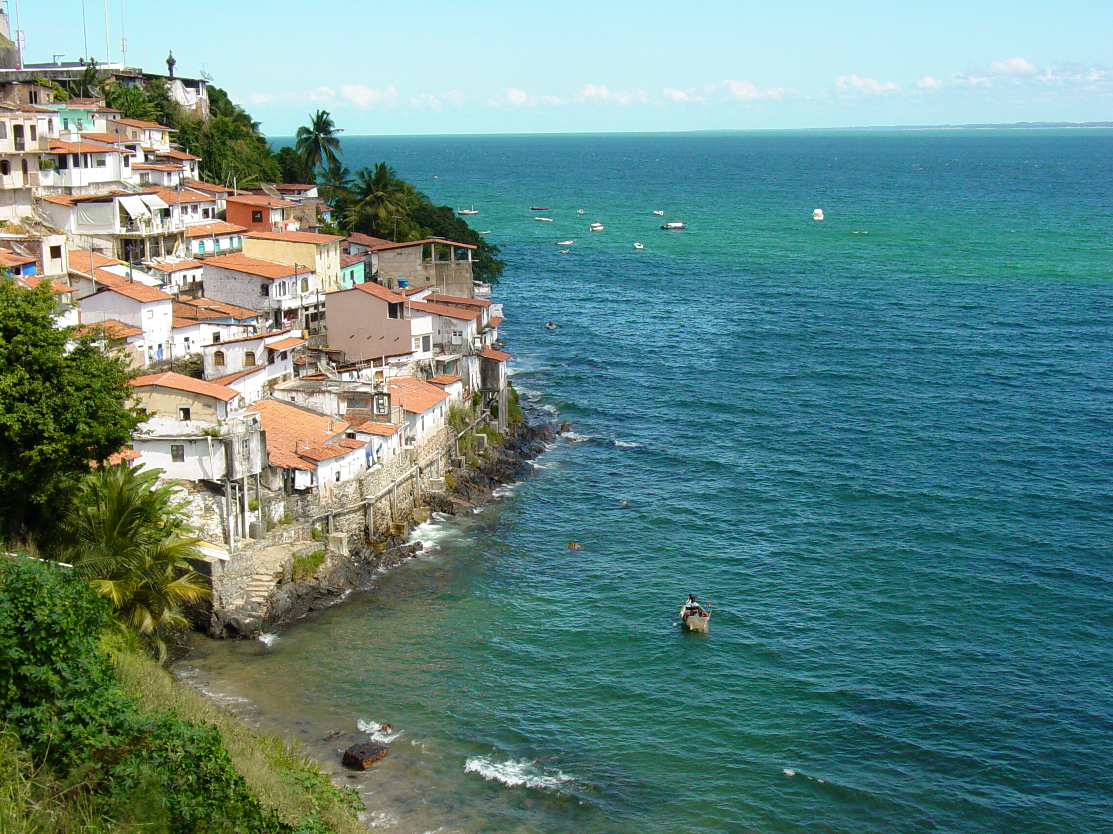 File fishing village along coast near salvador brazil for Places to fish near me for free