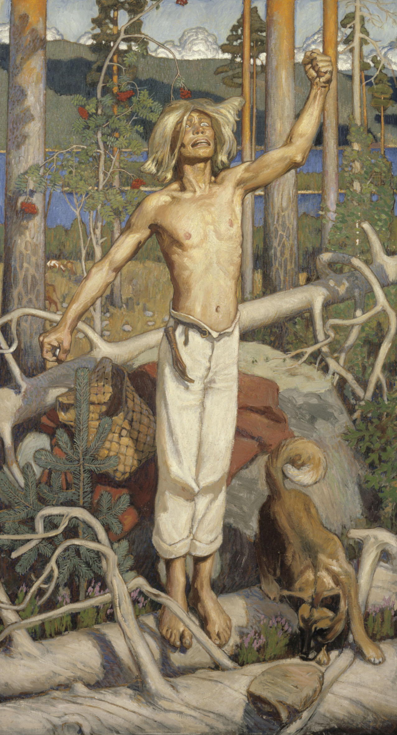Painting by Akseli Gallen-Kallela († 7. März 1931 in Stockholm), depicting a scene from Kalevala, a Finnish epic poem. Wikimedia Commons: http://commons.wikimedia.org/wiki/Image:Gallen_Kallela_Kullervos_Curse.jpg?uselang=fi