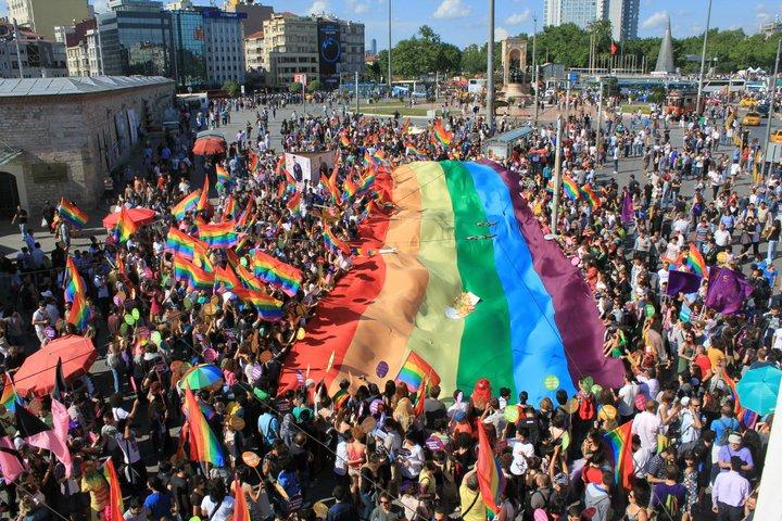 Gay pride Istanbul at Taksim Square