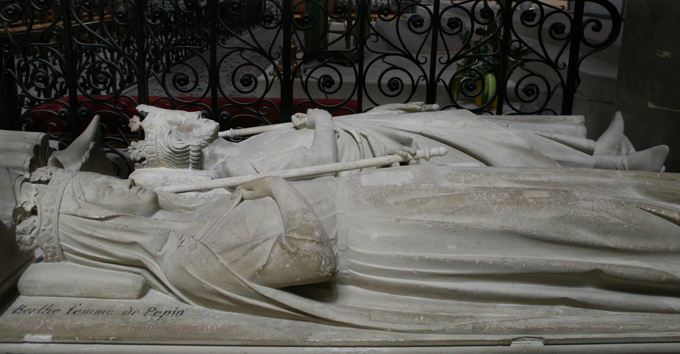 Bertrada's and Pepin's tombs