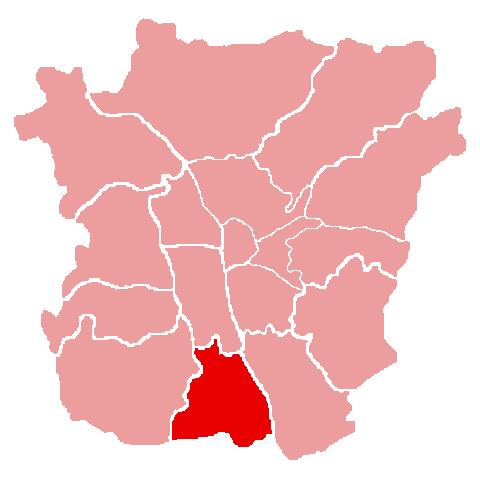 Lage des Bezirks Puntigam