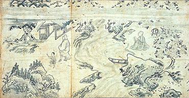 Fichier:Habukyo Saigyo Monogatari Emaki - travel.jpg