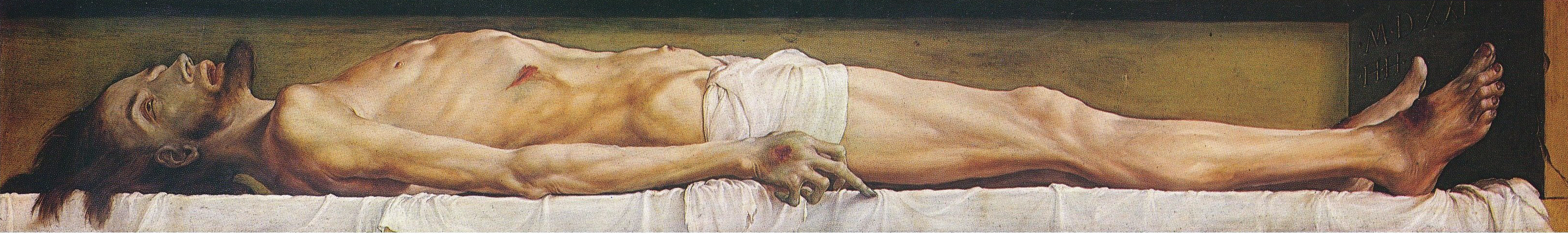 Hans Holbein- The Body of the Dead Christ in t...