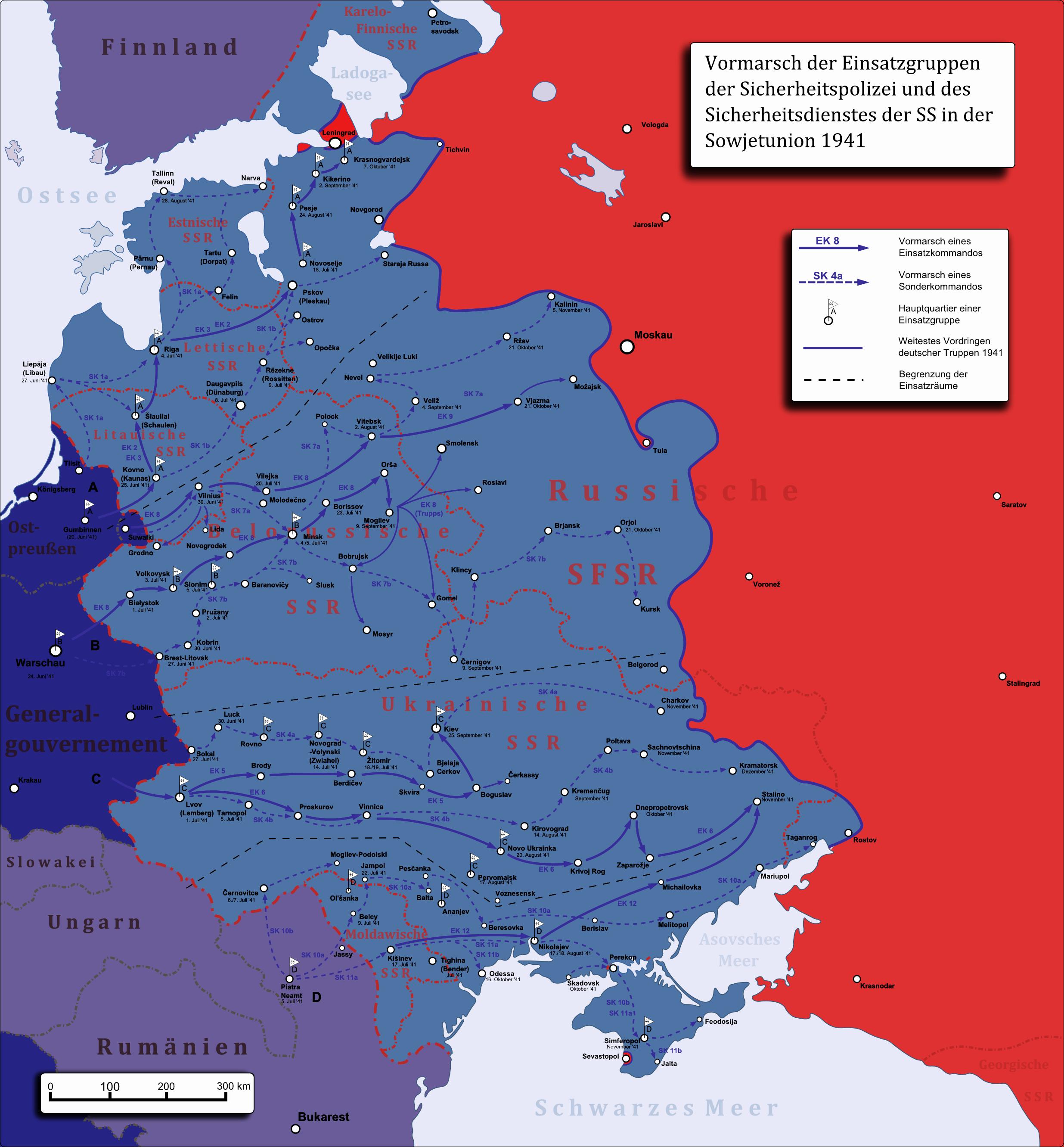 Einsatzgruppen der Sicherheitspolizei und des SD – Wikipedia