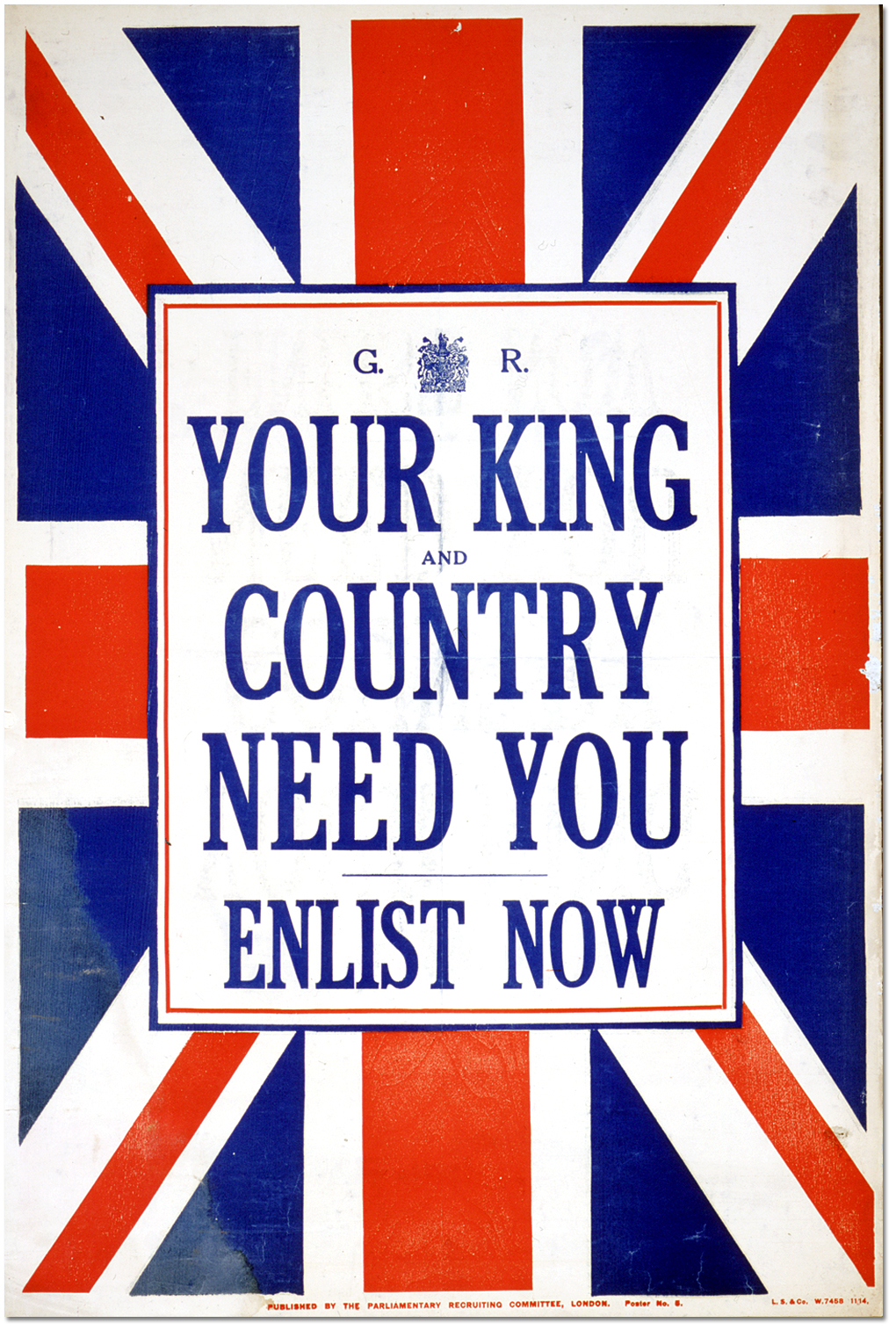 Army recruitment Poster reproduction Britons want you