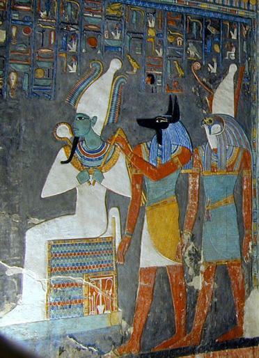 Osiris, Anubis, and Horus.