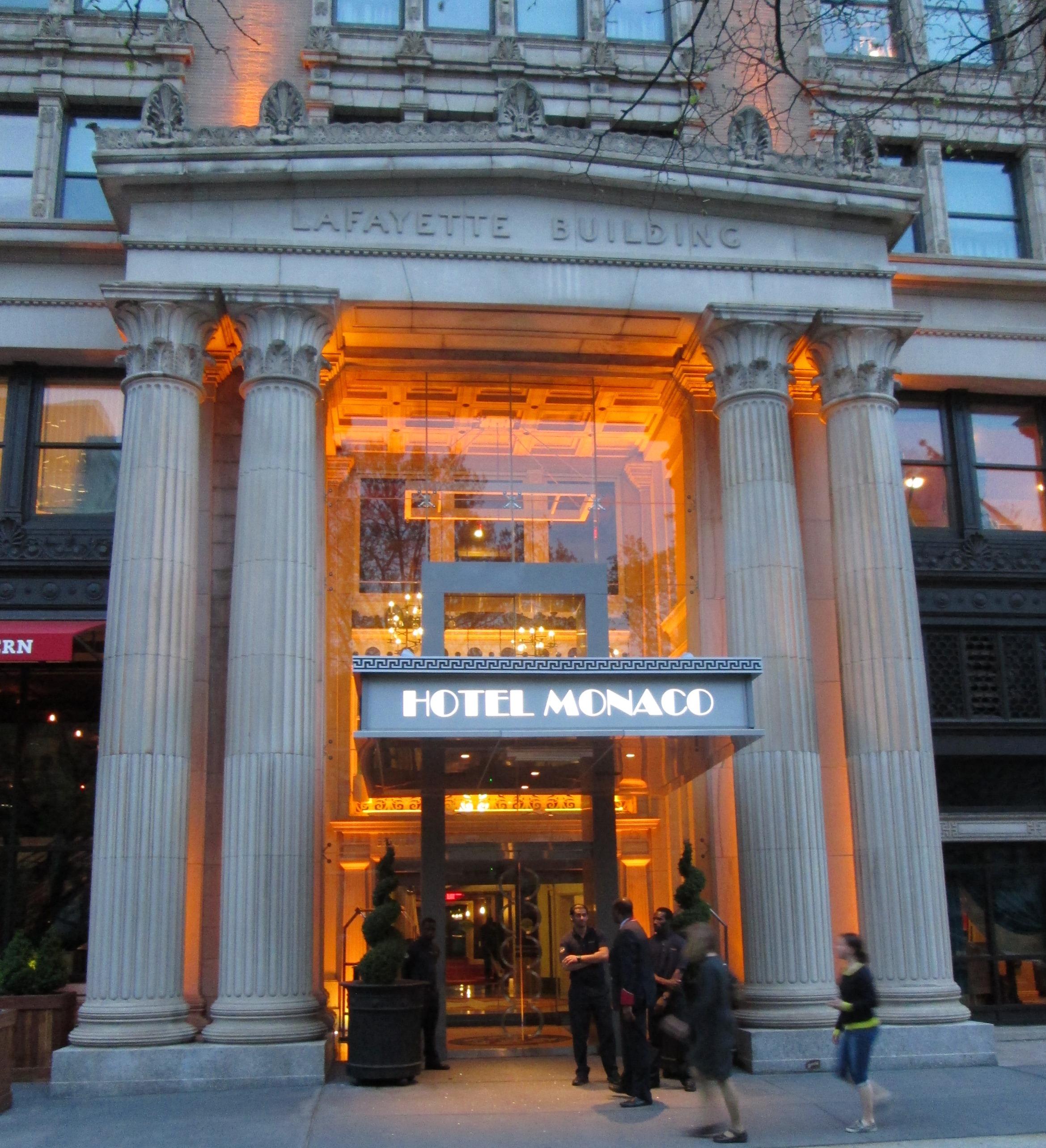 File Lafayette Building Hotel Monaco 433 Chestnut Street Entrance Jpg