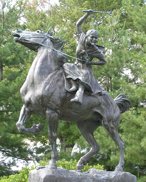 Statue of Sybil Ludington.  Photo on Wikimedia Commons by Anthony22.