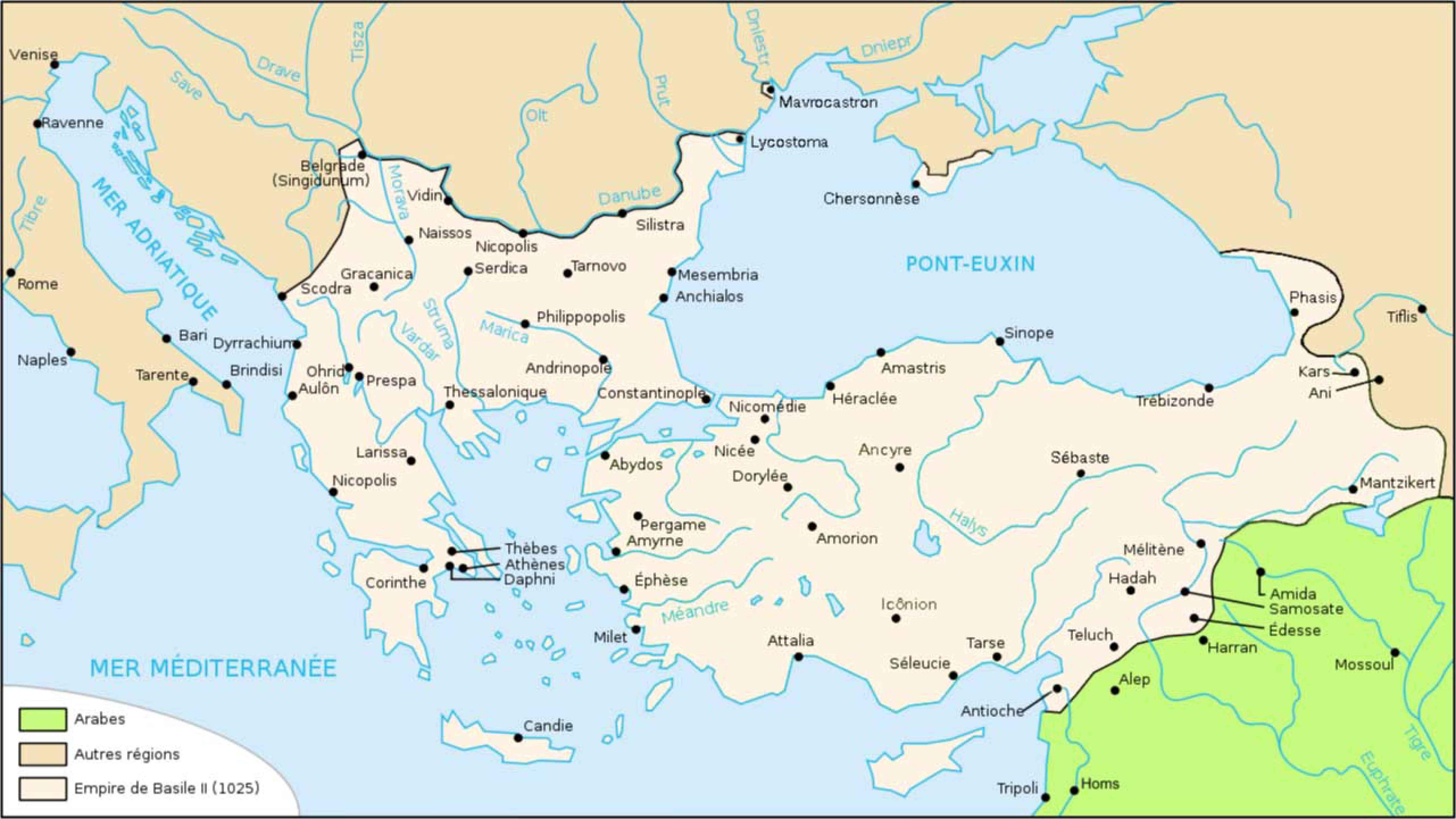 File:Map Byzantine Empire 1025-fr.jpg - Wikimedia Commons