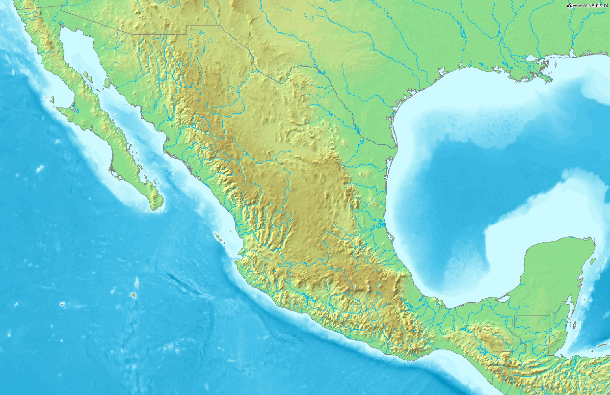 FileMap of Mexico Demispng Wikimedia Commons – Map to Mexico