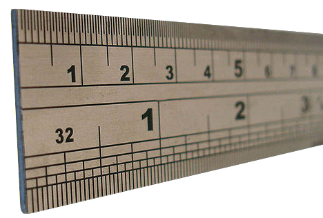 ruler with centimeters and inches