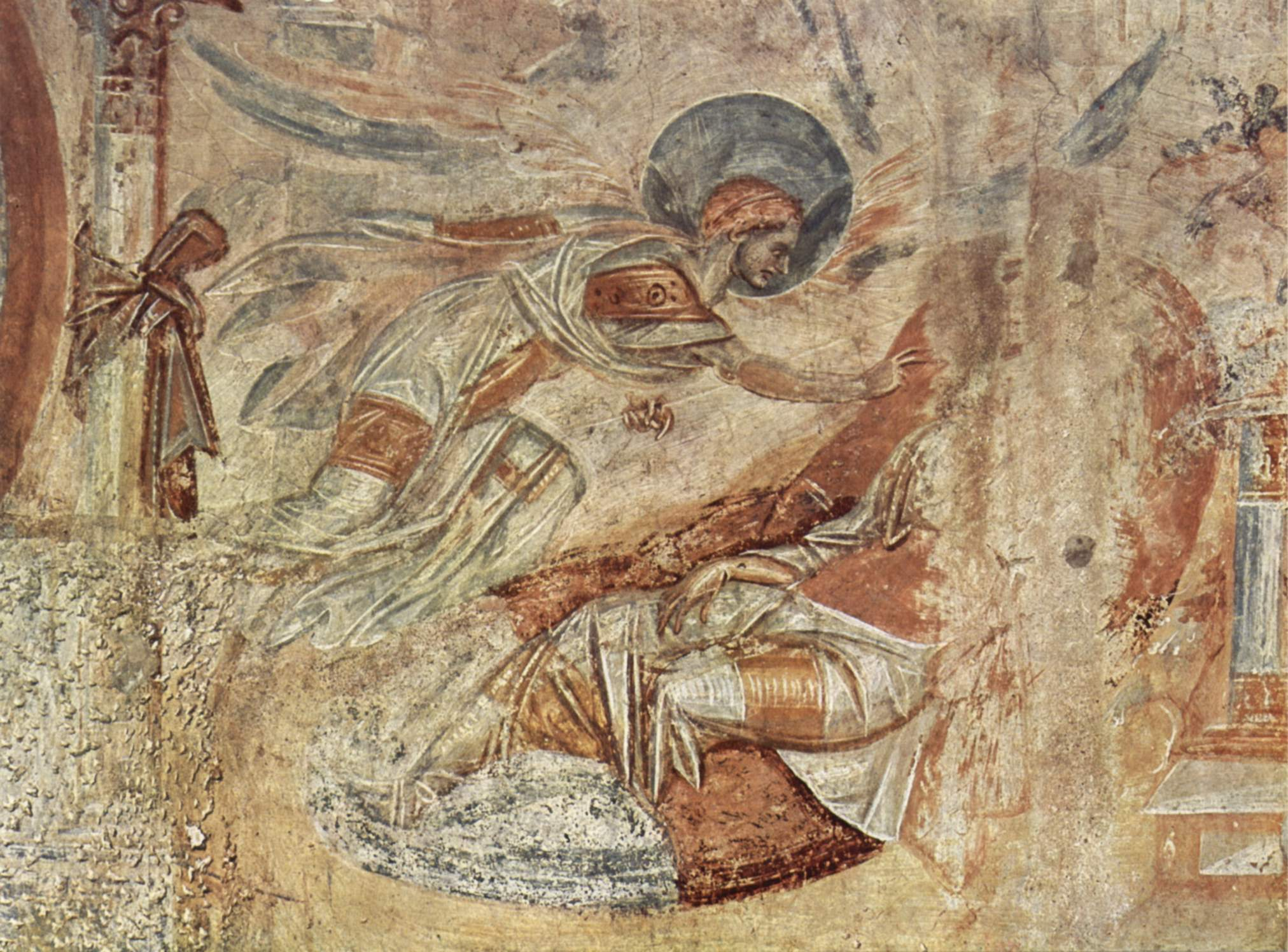 Joseph's Dream from the Byzantinesque frescos at Castelseprio, the subject  of much controversy since their discovery in 1944, and now generally dated  to the ...