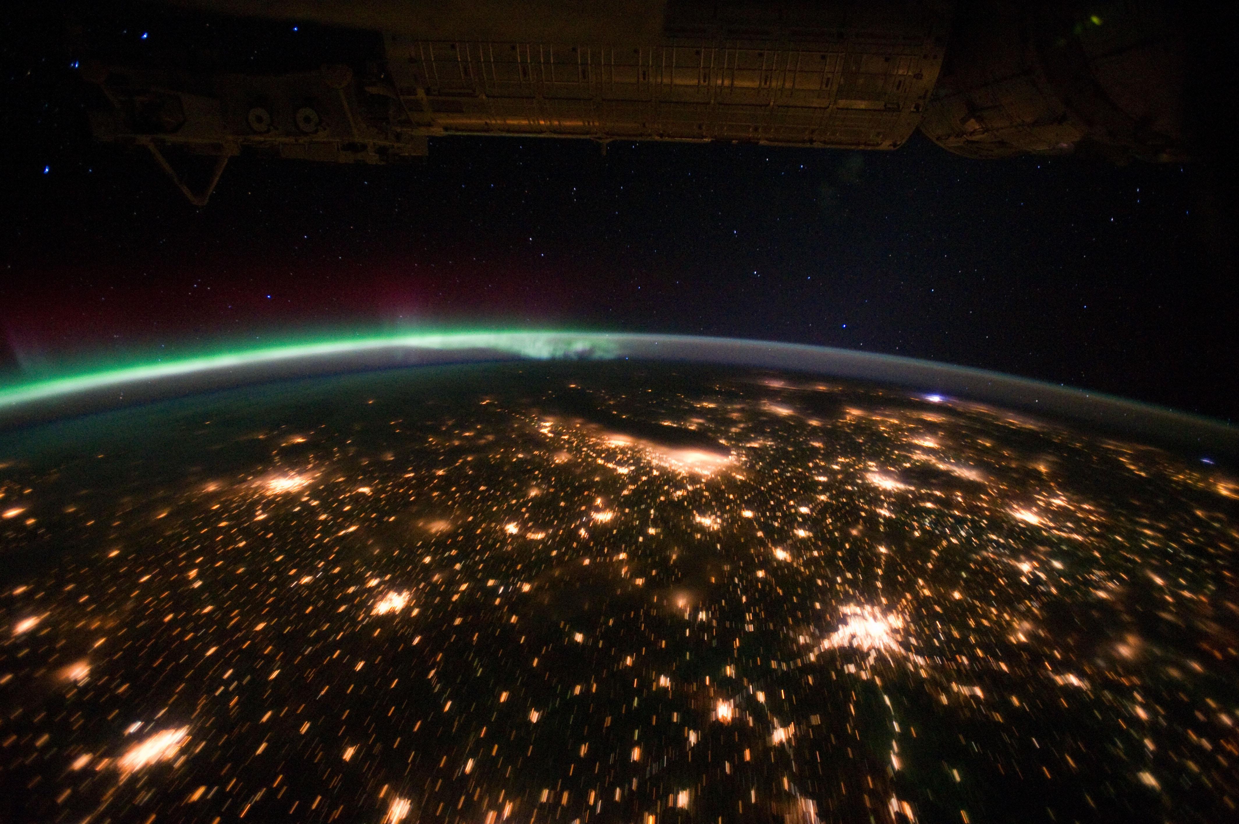 nasa night view of earth - photo #29