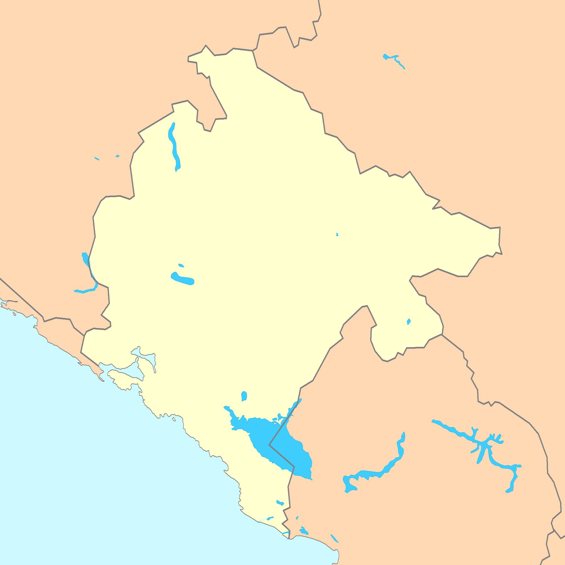 Montenegro Map Blank