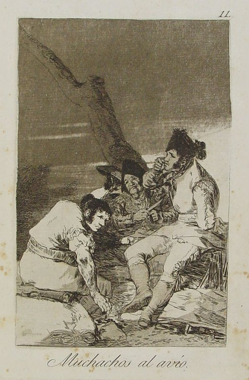 First edition Goya etching