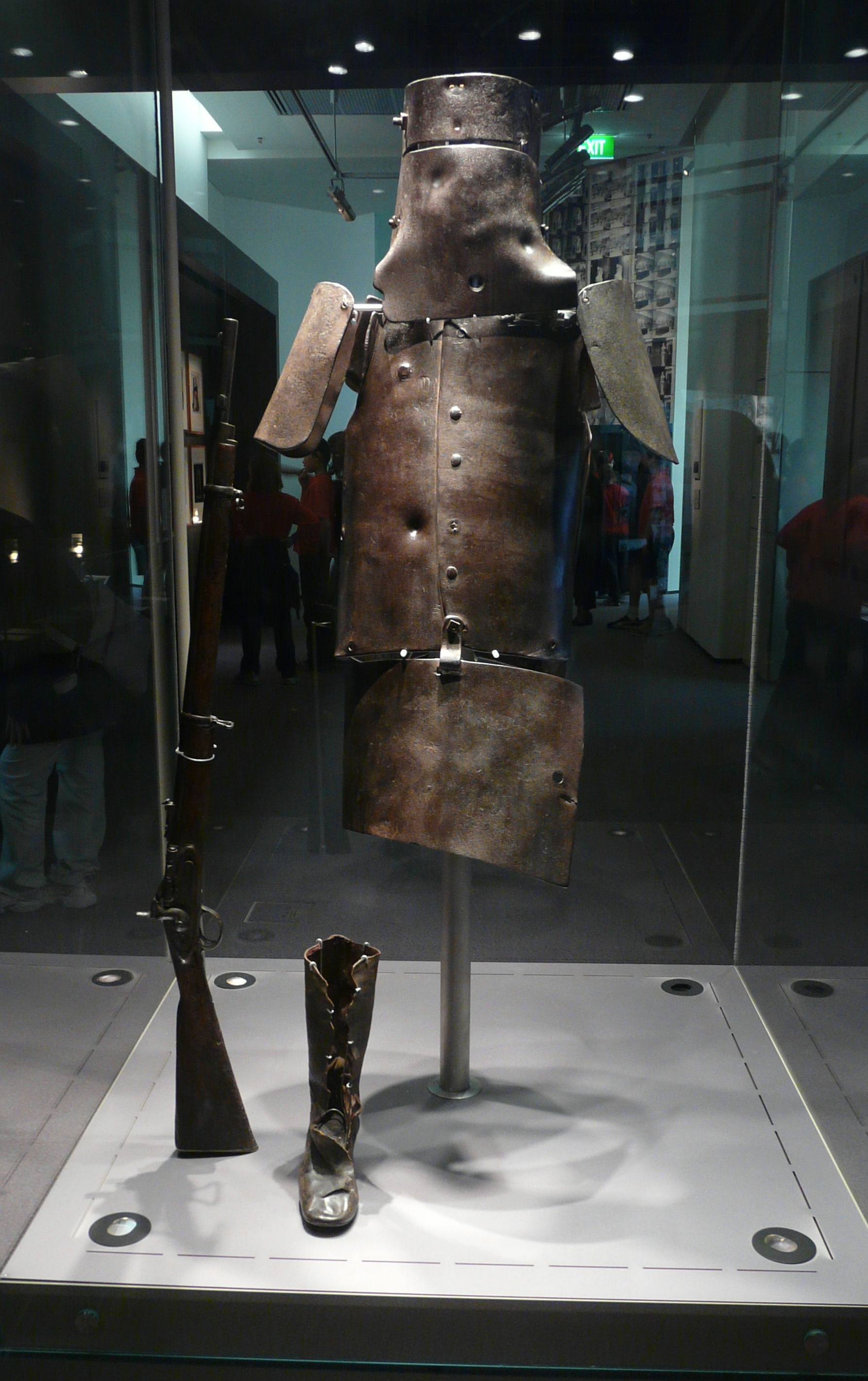 Description Ned kelly armour library.JPG
