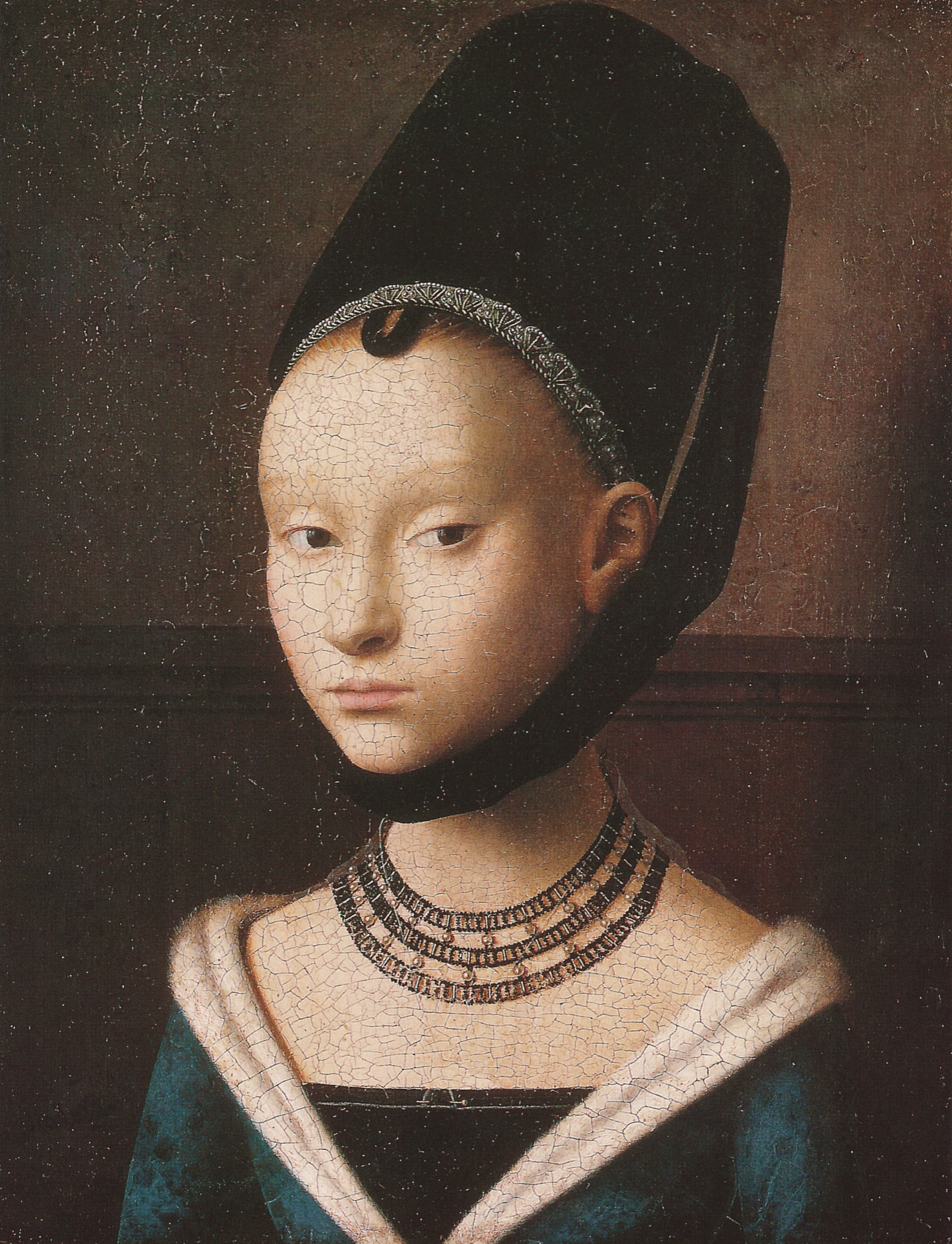 Portrait Ofa Girl 14 Years In Nature Stock Image: File:Petrus Christus, Portrait Of A Young Girl.jpg
