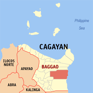 Map of Cagayan showing the location of Baggao