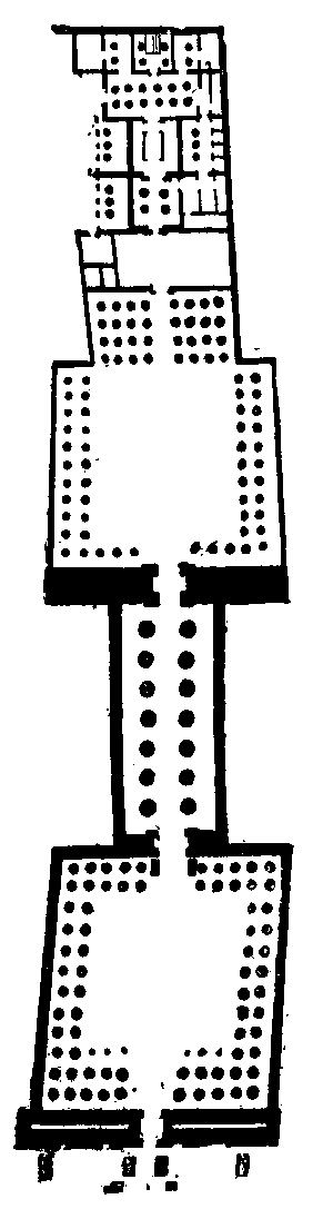 Plan Luxor Temple Wikimedia Commons