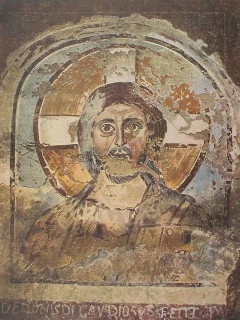 Cristo Pantocratore catacomba Ponziano Wilpert