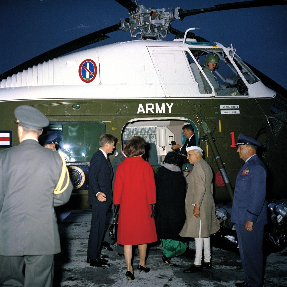 File President John F Kennedy First Lady Jacqueline