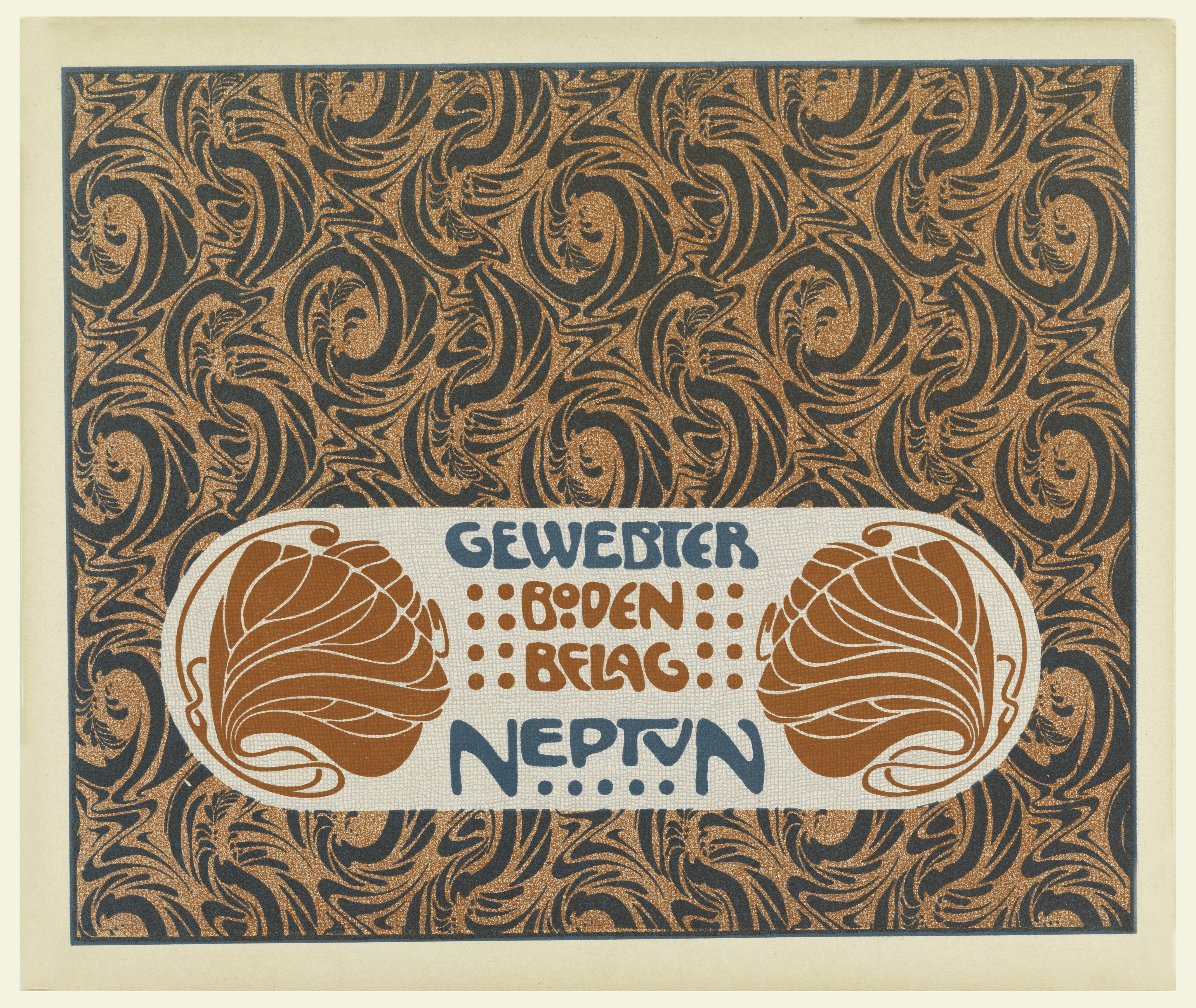 file print gewebter boden belag neptun neptune woven floor