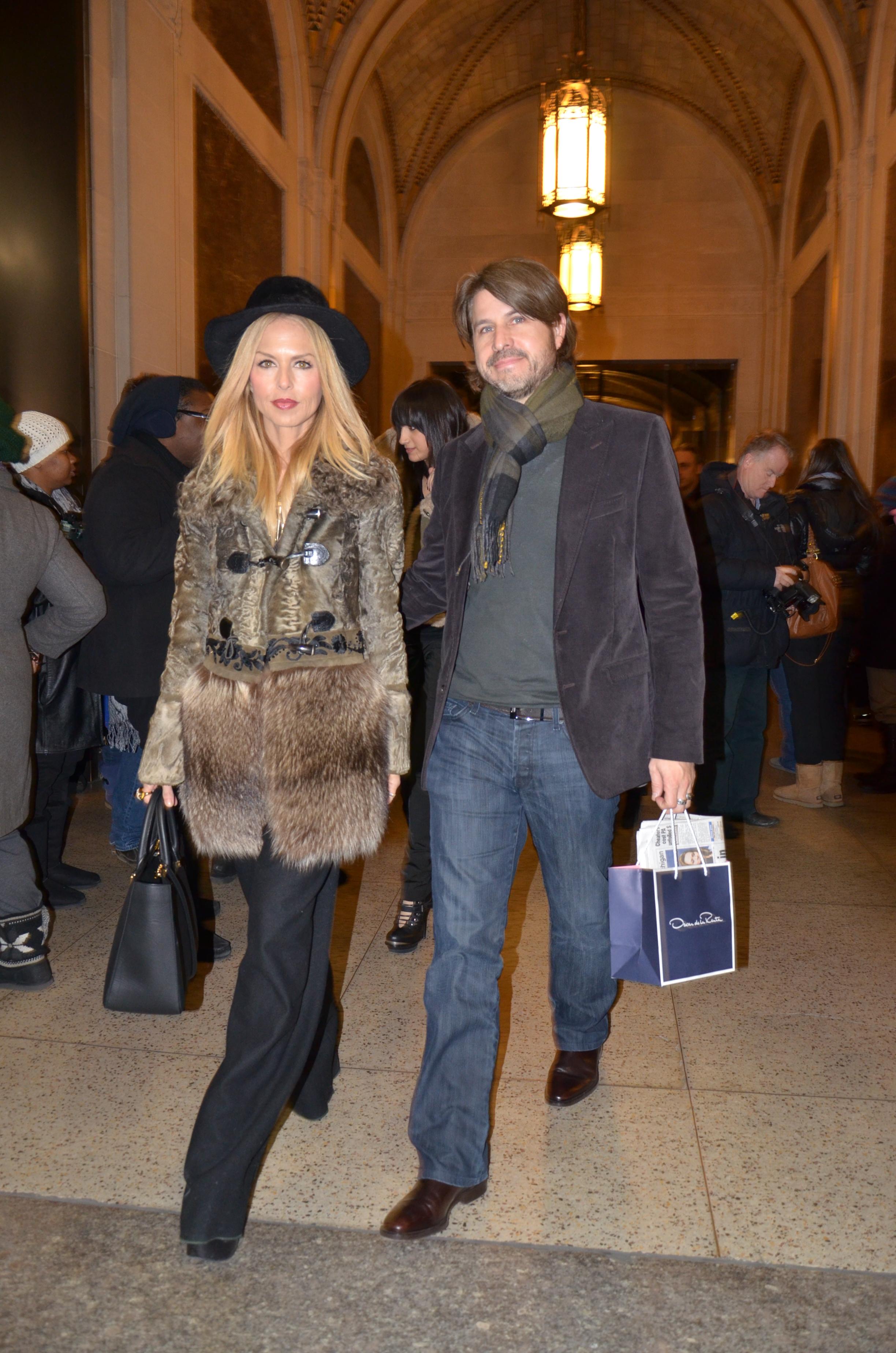 Rachel zoe at oscar de la renta fashion show in new york