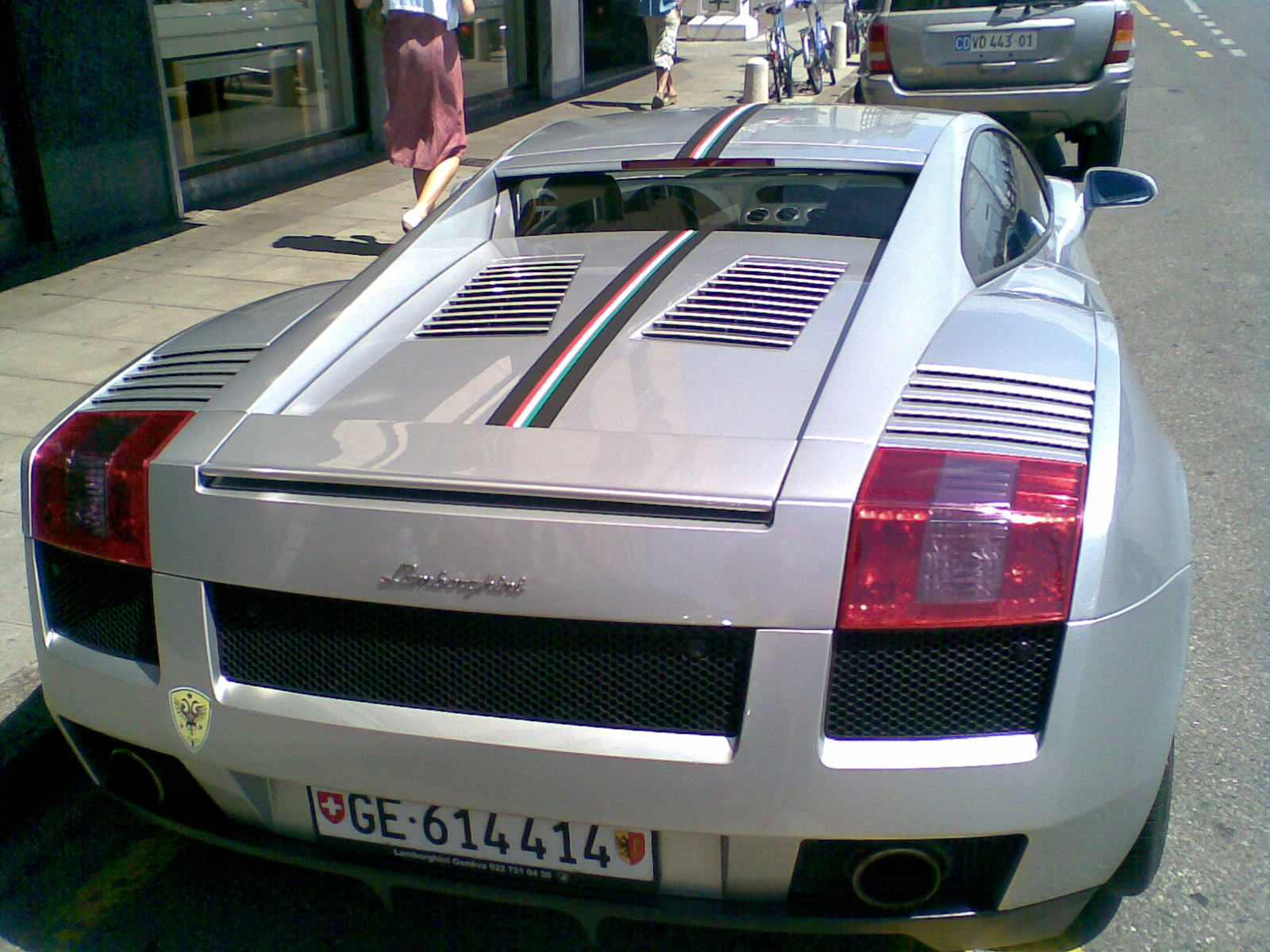 File Rear View Of Lamborghini Gallardo In Geneva Switzerland Jpg