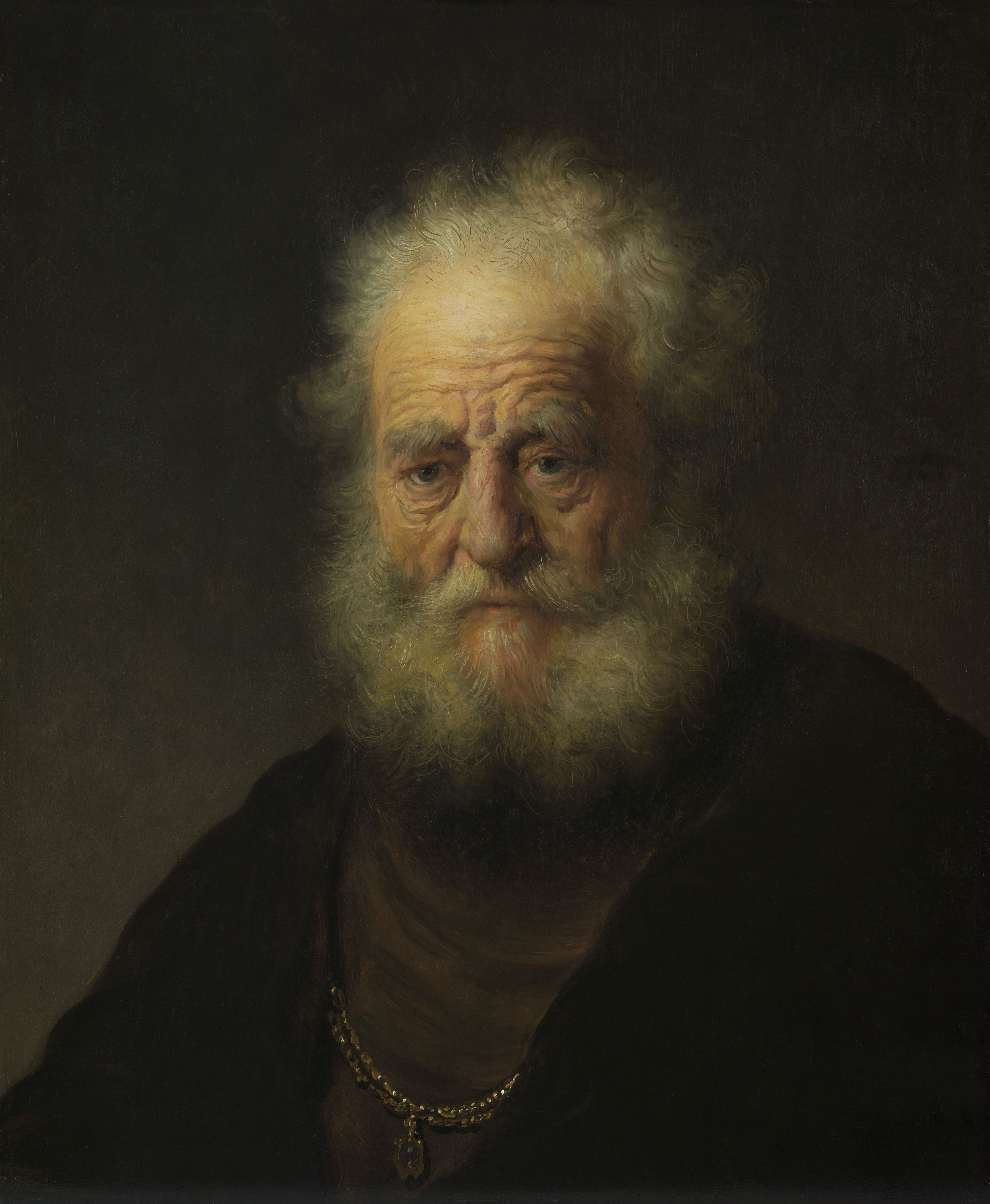 Filerembrandt Study Of An Old Man With A Gold Chain Gk 233jpg