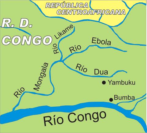 ebola utbrudd kart Ebola (elv) – Wikipedia ebola utbrudd kart