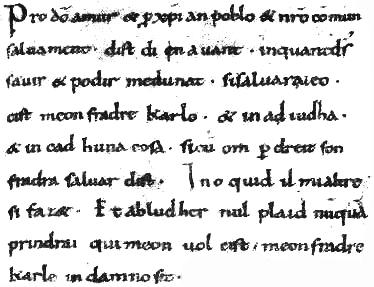 Serments de Strasbourg (fragment)