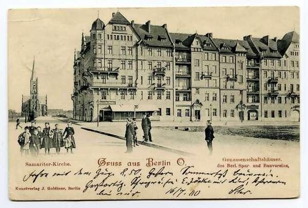 Friedrichshain près de la Samariter Kirche à Berlin vers 1900.