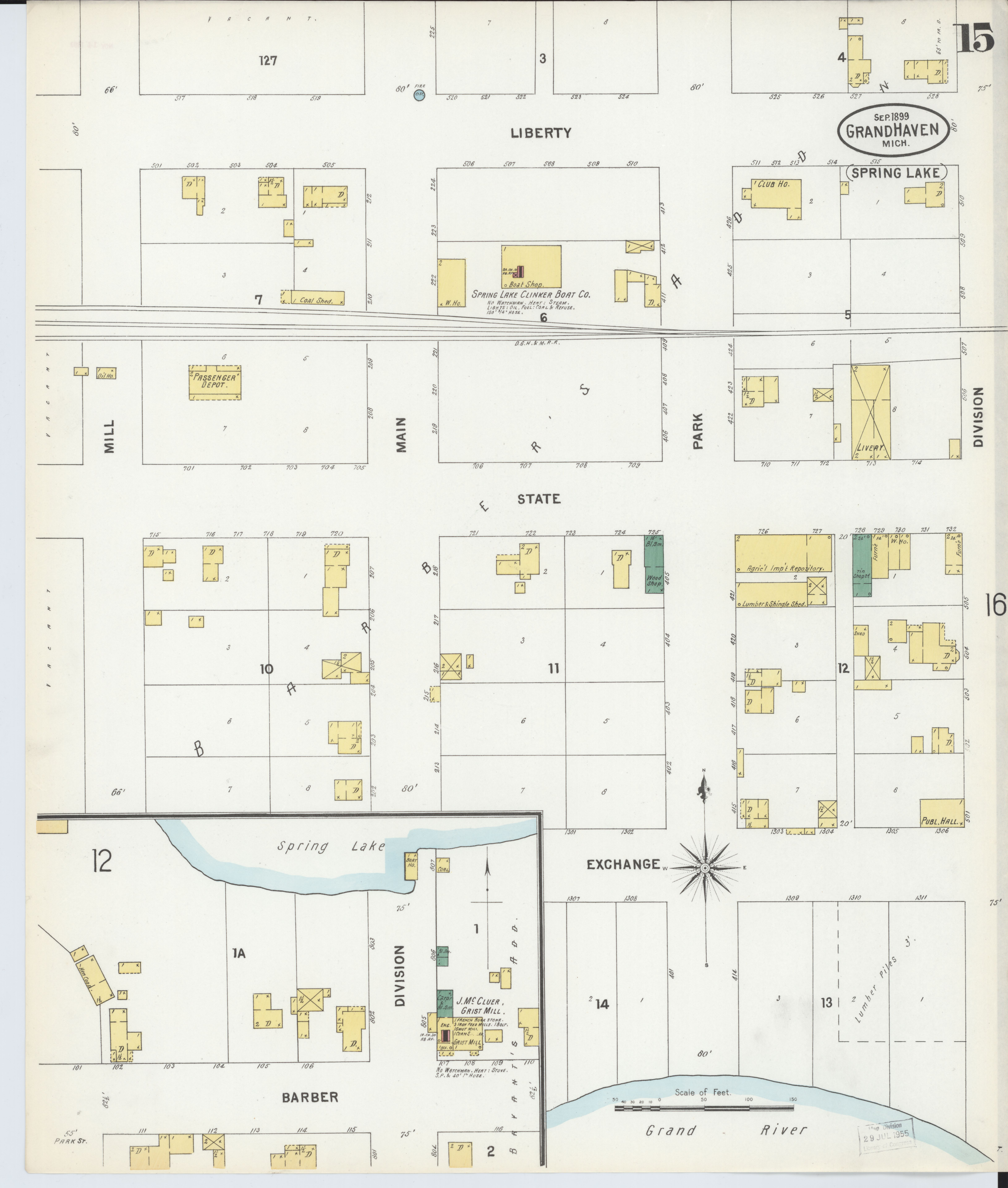 Grand Lake Fire Map.File Sanborn Fire Insurance Map From Grand Haven Ottawa County
