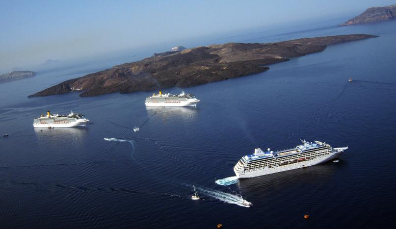 File Santorini Caldera Volcano Greece Aeagen Sea Jpg