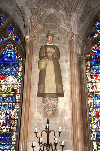file st etheldreda  ely place  london ec1 - nave statue - geograph org uk
