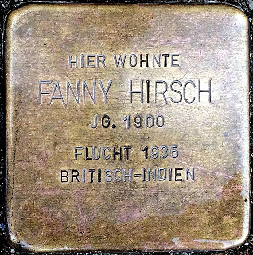 Stolperstein Hirsch, Fanny.jpg