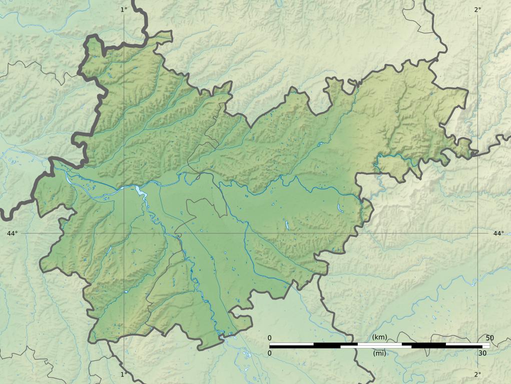 Fichiertarn Et Garonne Department Relief Location Mapjpg