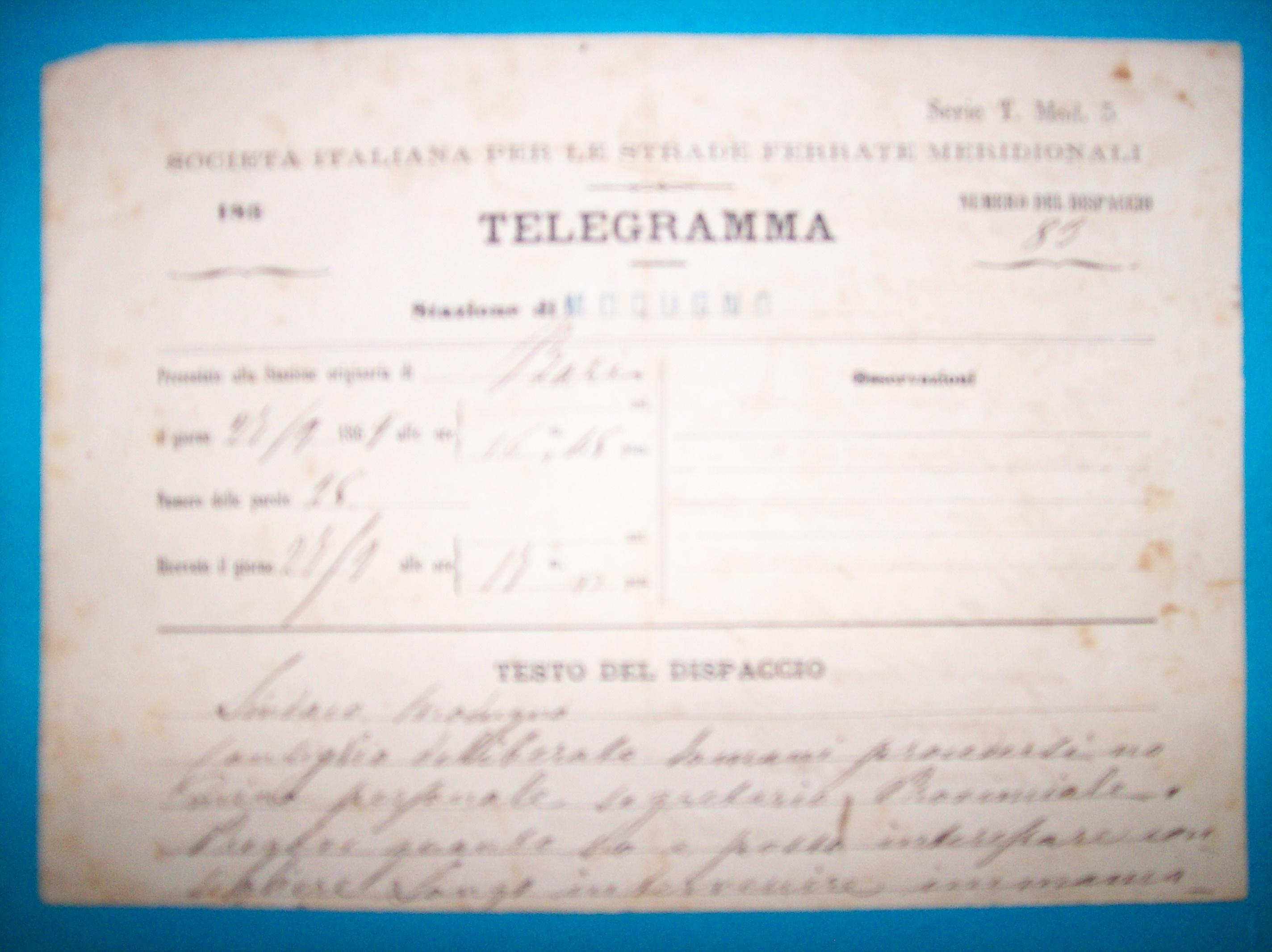 script di scambio in telegramma