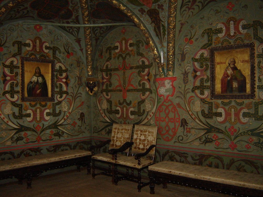 Teremnoy palace interior. Moscow Kremlin, Russia.
