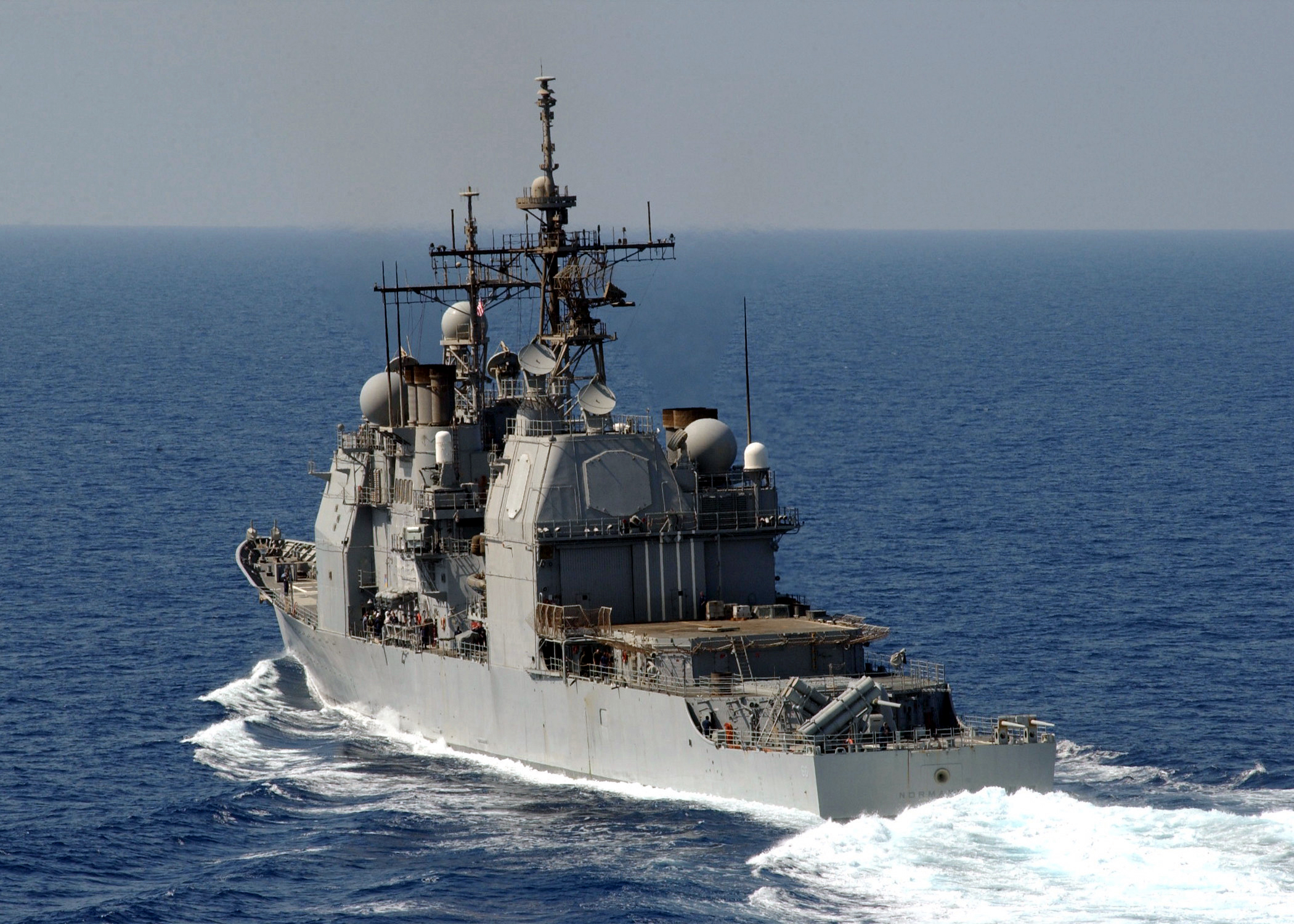 1082z 002 the guided missile cruiser uss normandy cg 60 underway jpg