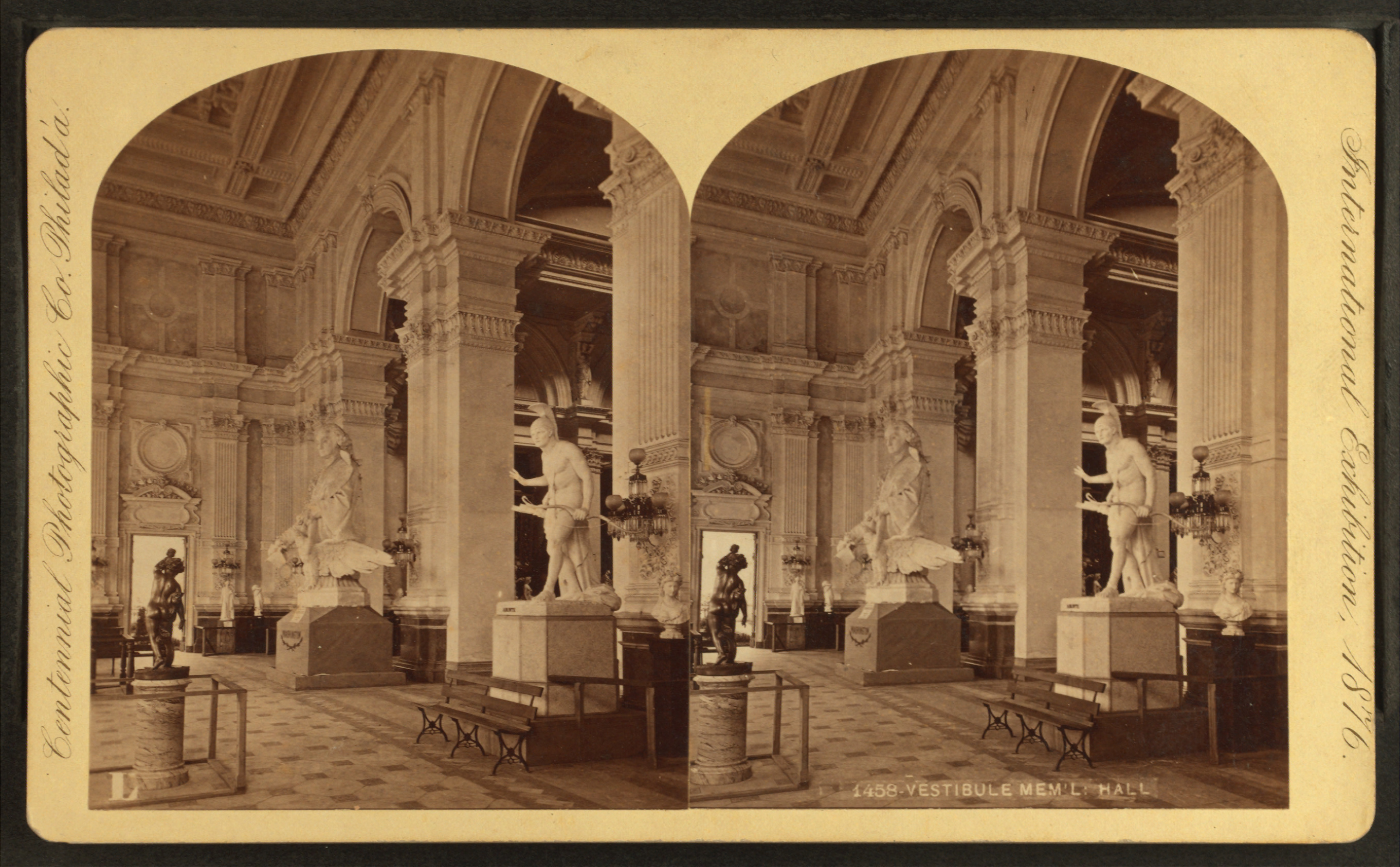 Vestibule Memorial Hall By Centennial Photographic Co How To Reduce Size Of