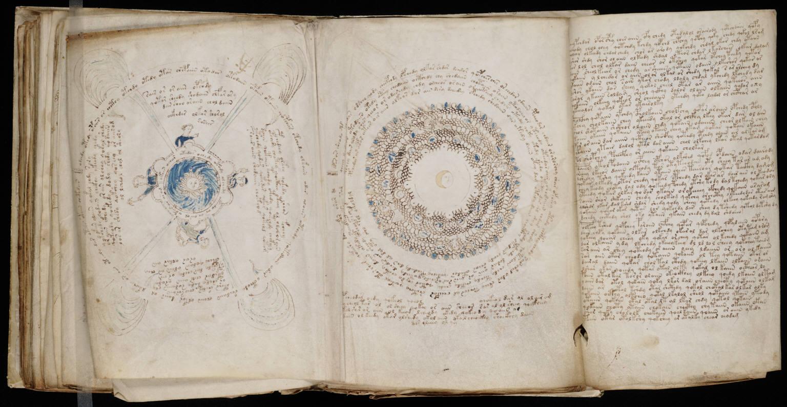 Voynich Manuscript %28156%29 ヴォイニッチ手稿(写本) どの言語にも属さない謎の文字!